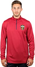 Ultra Game NBA Adult Men Quarter Zip Pullover Shirt Athletic Quick Dry Tee