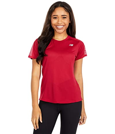New Balance Impact Run Short Sleeve (Neo Crimson) Women