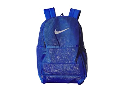 Nike Brasilia Mesh Backpack 9.0 (Game Royal/Game Royal/White) Backpack Bags