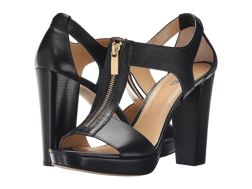 MICHAEL Michael Kors Berkley Sandal (Black Vachetta) Women