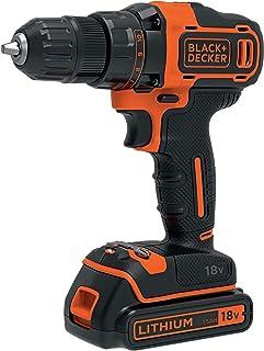 Black+Decker BDCDD186K-QW BDCDD186K Cordless Drill, Orange