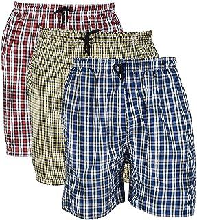 DIGITAL SHOPEE Men's Cotton Boxers (Pack of 3), Multicolour