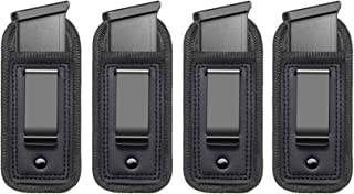 4-Pack Universal IWB Magazine Holster Concealed Carry 9mm .40 .45   Inside The Waistband Mag Pouch   Mag Holster for Glock...