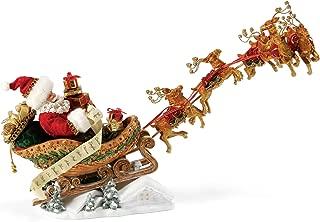 "Department 56 Possible Dreams Santa Claus ""Dash Away All"" Clothtique Christmas Figurine"
