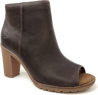Timberland Women's Tillston Peep Toe Leather Ankle Boots