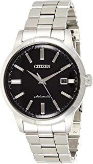 CITIZEN Mens Mechanical Watch, Analog Display and Solid Stainless Steel Strap - NK0000-95E