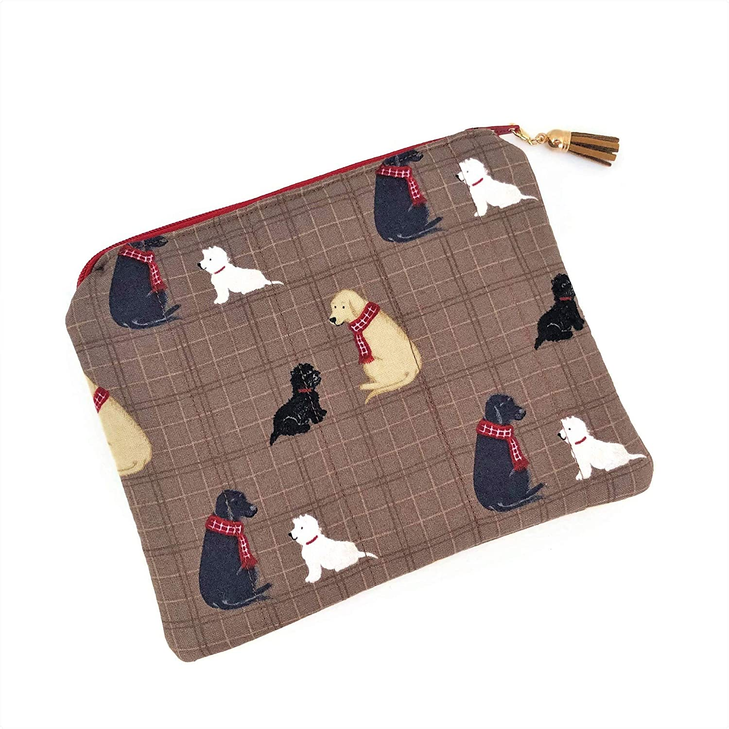 Small Cosmetic Bag with Very popular Max 74% OFF Dogs Makeup Toilet purse Zipper Pouch