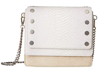 Hammitt Jeffrey (White Anaconda/Tan Ray/Sandstone/Brushed Silver) Handbags