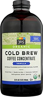 365 Everyday Value, Organic Cold Brew Coffee Concentrate, Vanilla, 32 fl oz