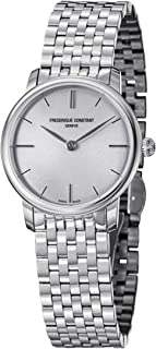 Frederique Constant Slimline Stainless Steel Womens Watch Silver Dial FC-200S1S36B