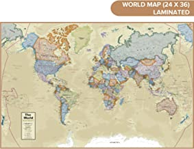 "Waypoint Geographic Classic Ocean World Wall Map (24"" x 36"") – Current.."