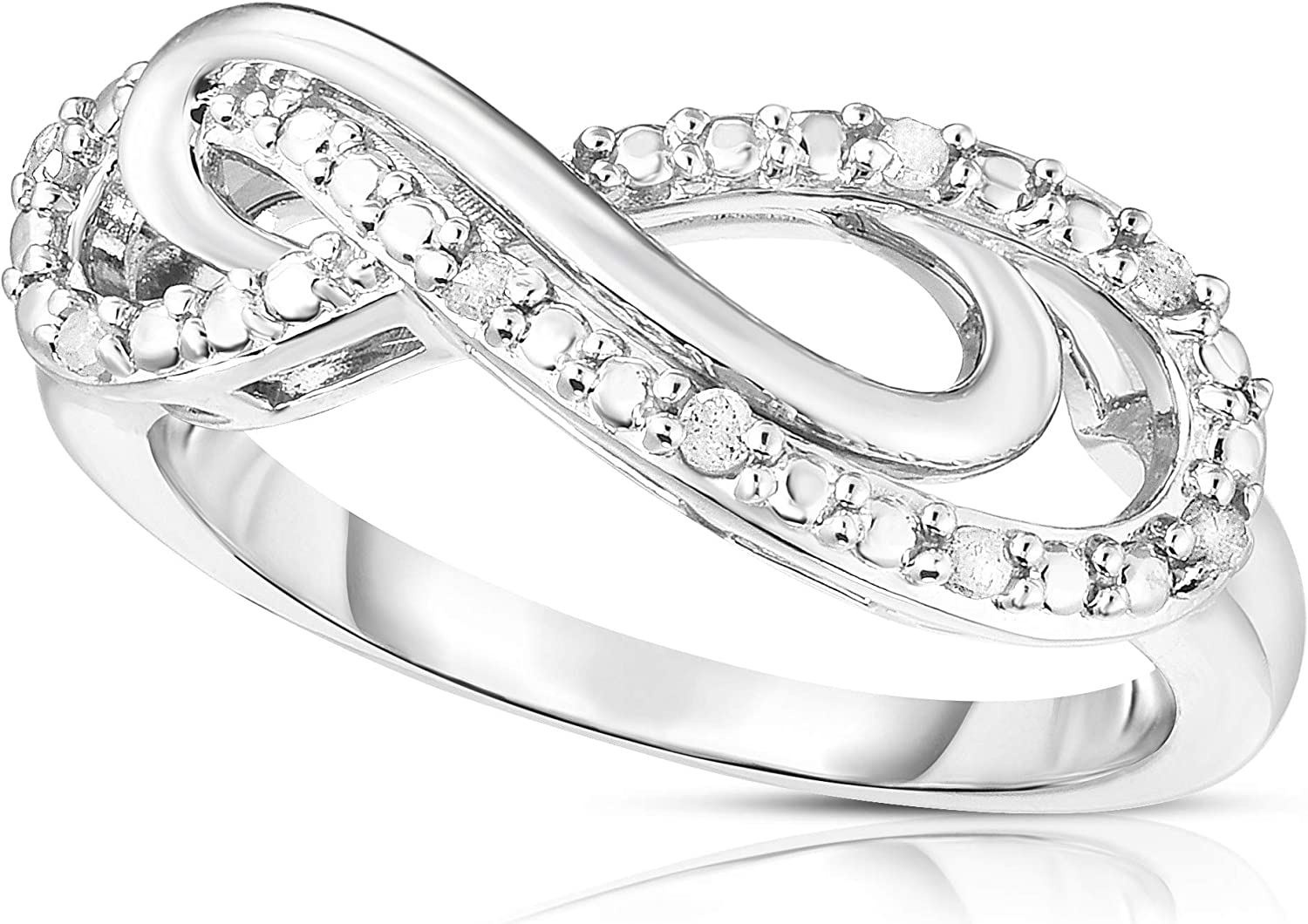 Femme Luxe Price reduction Infinity Statement Ring - sold out Diamond Carat Rhodi in 0.08