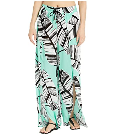 Trina Turk Copacabana Split-Leg Beach Pants Cover-Up (Lagoon) Women