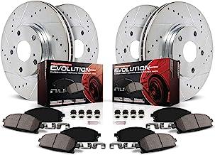 Power Stop K7096,Z23 Front and Rear Brake Kit-Drilled/Slotted Brake Rotor & Carbon Ceramic Brake Pads