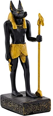 3.25 Inch Egyptian Guardian with Staff in Hand Resin Statue Figurine
