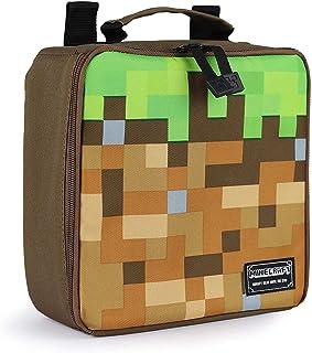 "JINX Minecraft Dirt Block Insulated Kids School Lunch Box, Green/Brown, 8.5"" x 8.5"" x 4"""