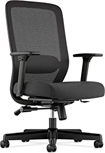HON BSXVL721LH10 Exposure Mesh Task Computer Chair with 2-Way Adjustable Arms for Office Desk, Black (HVL721), Back