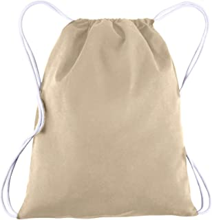 d4043f8ba2b6 Canvas Drawstring Backpack Bulk Blank - 25 Pack - Wholesale Gym Sack  Reusable and Customizable Cinch