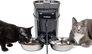 PetSafe Healthy Pet Simply Feed Automatic Cat Feeder and Dog Feeder Bundle - 24 Cups Capacity, Portion Control (12 Meals per Day) - Includes 2 Stainless Steel Bowls, Meal Splitter and Privacy Panel