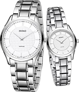 Jiusko Swiss - Men Women Slim Quartz Dress Watches - Sapphire - Tungsten Steel Bracelet - 325