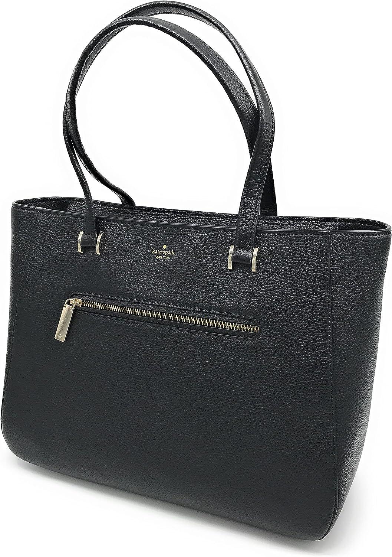 Kate Spade New York Hopkins Street Dharma Large Pebbled Leather Tote Bag (Black)