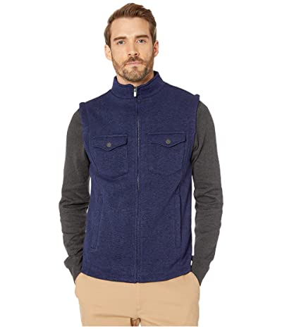 The Normal Brand Lincoln Fleece Vest (Navy) Men
