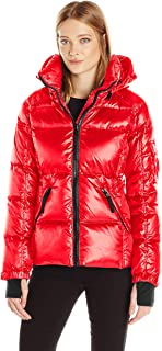 womens red down jacket