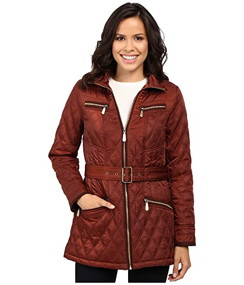 Vince Camuto Belted Quilted Jacket L8101 at 6pm : quilted coat with hood - Adamdwight.com