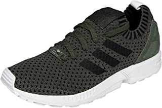 adidas Originals Womens ZX Flux Primeknit Running Lace Up Trainers Shoes - Grey