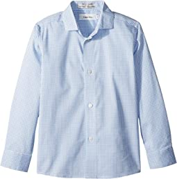 Calvin Klein Kids Tick Gingham Long Sleeve Shirt (Little Kids)