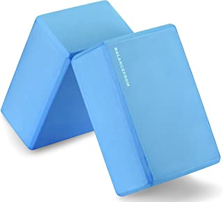 BalanceFrom GoYoga Set of 2 High Density Yoga Blocks, 9