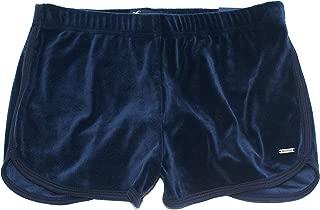 Hollister Women's High-Rise Velvet Curved Hem Shorts HOW-58