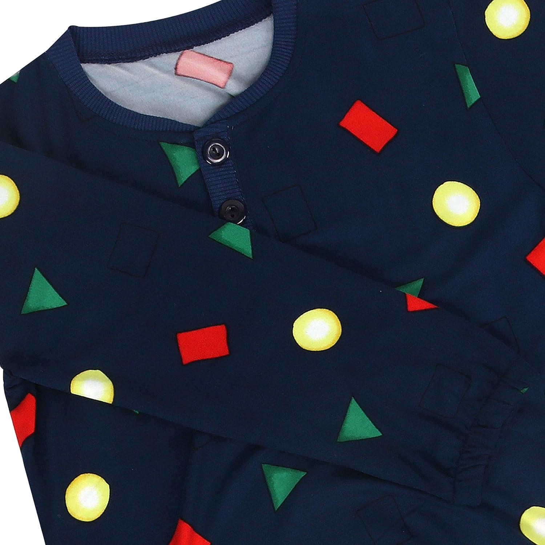 FOXCLUB Kids and Baby Holiday Sleepwear Figure Family Matching Pajams Short-Fleece Long-Sleeve Pjs Set