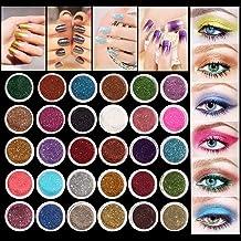 LuckyFine 30Pcs/Set Colors Mixed Glitter Loose Powder Eyeshadow Eye Shadow Cosmetics Salon