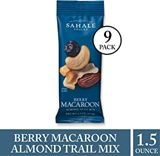 Sahale Snacks Berry Macaroon Almond Trail Mix, 1.5 oz., Pack of 9 – Healthy Nut Mix Snacks in a Grab 'n Go Pouch, No Artificial Flavors, Preservatives or Colors, Gluten-Free Snacks