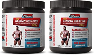 pre Workout Vitamins for Men - German CREATINE - 100% Pure MICRONIZED CREATINE MONOHYDRATE - Creatine monohydrate Bulk Sup...