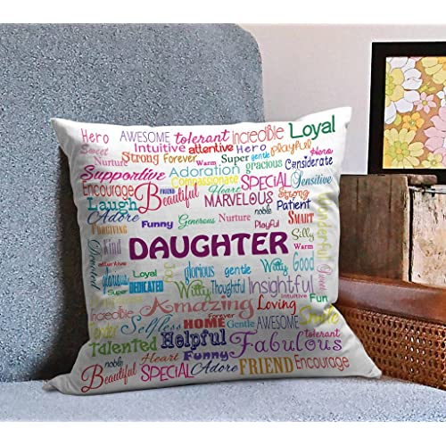 Tied Ribbons Daughtera BirtHDay Gift Printed Cushion12 Inch X 12 With Filler