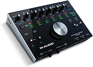 M-Audio M-Track 8X4M | Compact USB / USB-C Bus-Powered 8-In/4-Out 24/192 USB Audio/MIDI Interface With Zero Latency Monitoring, Rugged Metal Chassis And Pro-Grade Software Suite