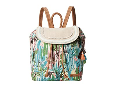 Sakroots Artist Circle Mellie Backpack (Natural Mojave Mirage) Backpack Bags