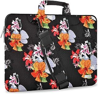 "Hseok Laptop Shoulder Bag 15 15.6 16 Inch Brifecase, Compatible MacBook Pro 16 15.4 Inch, XPS 15 Spill-Resistant Handbag with Shoulder Strap for Most 14""-16"" Notebooks, Morning glory"