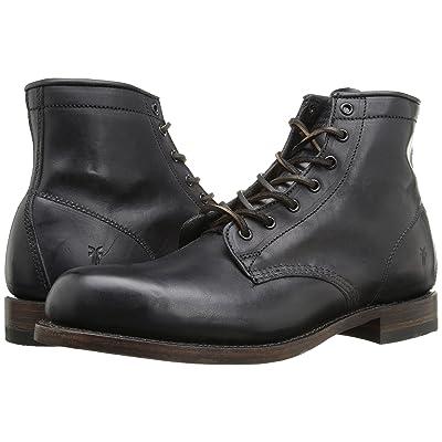 Frye Arkansas Mid Leather (Black Vintage Pull Up) Men