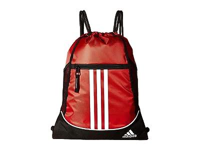 adidas Alliance II Sackpack (Power Red/Black/White) Backpack Bags