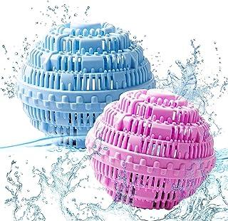WELLXUNK® Boules de Lavage, Boule de Lavage écologique réutilisable, Boule à Linge Naturelle, Antibactérien et durable, Bo...