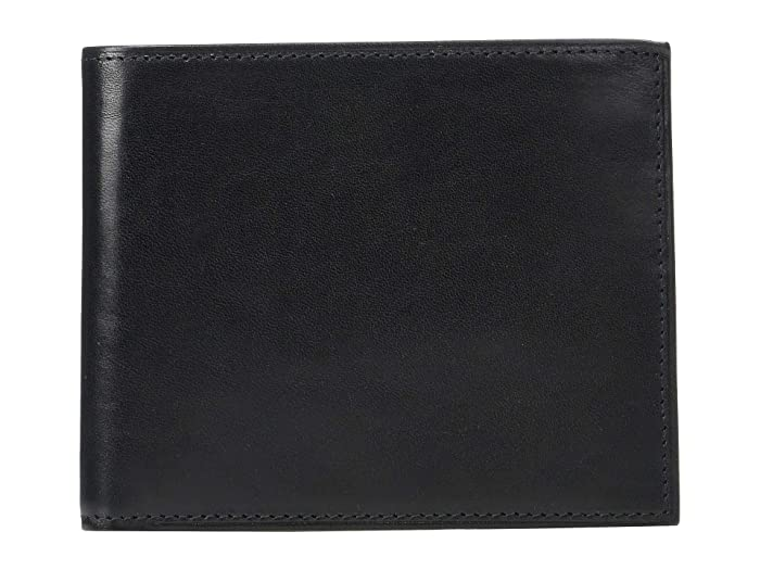 Bosca  Old Leather Euro RFID Executive Wallet with Coin Pocket (Black) Handbags