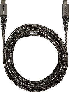 كابل OtterBox USB-C إلى USB-C (3m / 10ft) - تغليف التجزئة - ظل الحجر (أسود / رمادي هادئ)