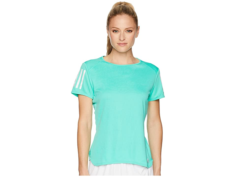 adidas Response Short Sleeve Tee (High-Res Green) Women
