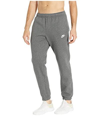 Nike NSW Club Pants Cuffed (Charcoal Heather/Anthracite/White) Men