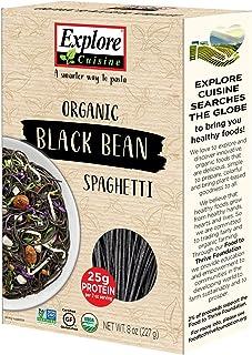 Explore Cuisine Organic Black Bean Spaghetti (6 Pack) - 8 oz - High Protein, Gluten Free Pasta, Easy to Make - USDA Certified Organic, Vegan, Kosher, Non GMO - 24 Total Servings