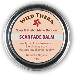 Wild Thera Scar Remover for Stretch Marks, Acne Scar Removal, Pregnancy Scars, Surgery Scars, Sun Spots & Pock Marks. Herbal Scar Cream with Coconut Oil, Shea, Cocoa Butter, Jojoba Oil, Avocado Oil.