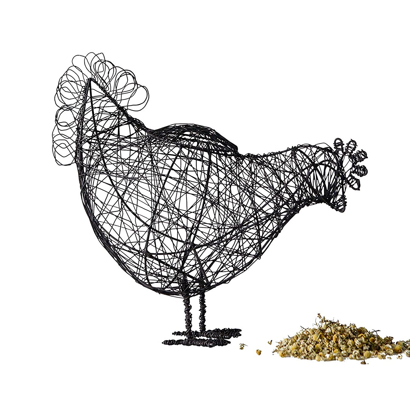 Farmhouse Hen Shaped Wire Egg Basket